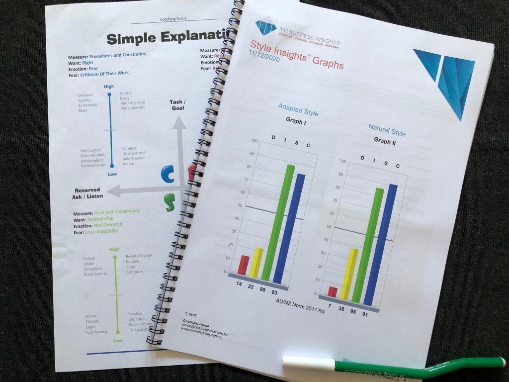 Coaching Focus - DISC Graph Simple