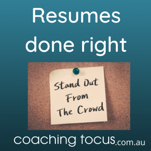 Coaching Focus - Resumes done right